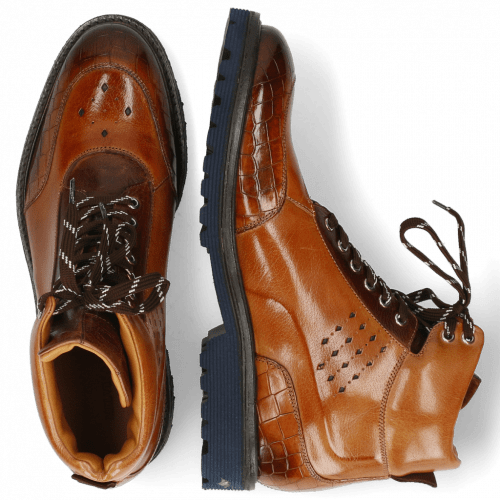 Bottines Trevor 28 Crock Cognac Mid Brown Navy