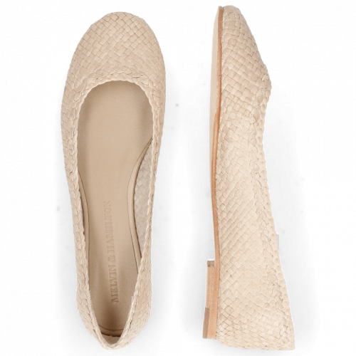 Ballerines Kate 5 Woven Off White Natural