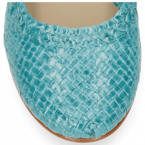 Ballerines Kate 5 Woven Turquoise