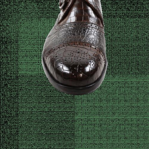 Monks Henry 11 Crock Suede Croco Dark Brown