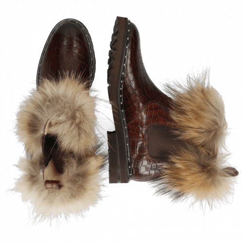 Bottines Sally 114 Chestnut Fur Lionel Brown