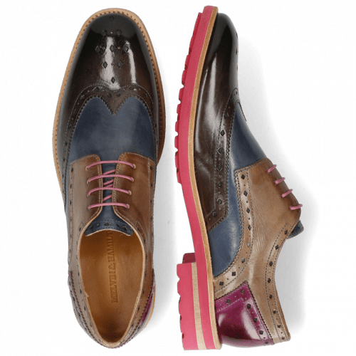 Derbies Eddy 5 Deep Steel Sky Blue Oxygen Eggplant