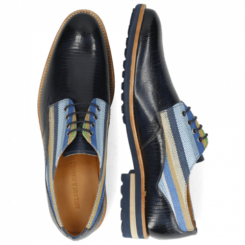 Derbies Henry 34 Guana Navy Washed