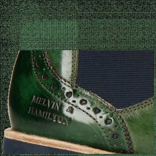 Bottines Selina 6 Harris Green Elastic Navy