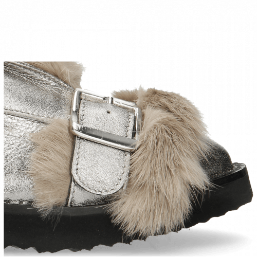 Bottines Greta 4 Talca Steel Fur Taupe