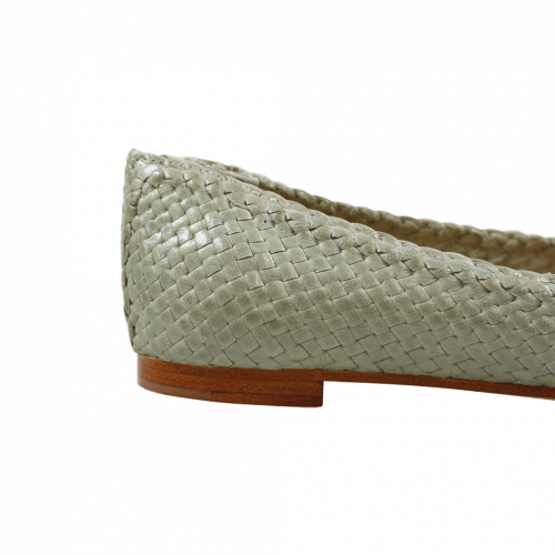 Ballerines Kate 5 Woven Sweet Green LS Natural