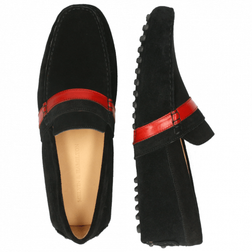 Mocassins Nelson 6 Suede Pattini Black Ruby