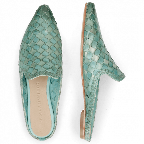 Mules Lydia 2 Woven Scale Mermaid