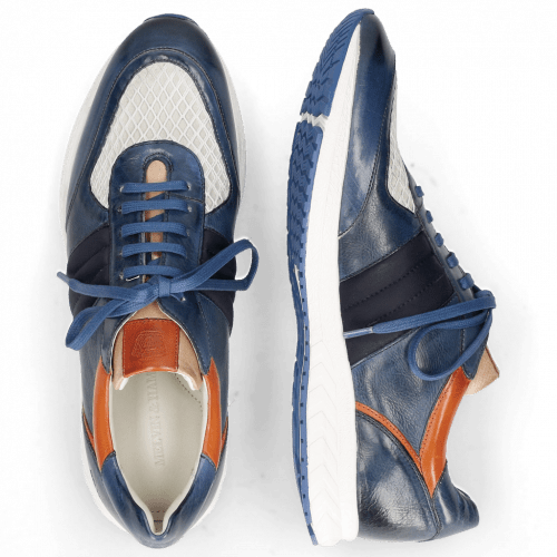 Sneakers Blair 13 Vegas Navy Glove Nappa Deep Kumquat Lycra