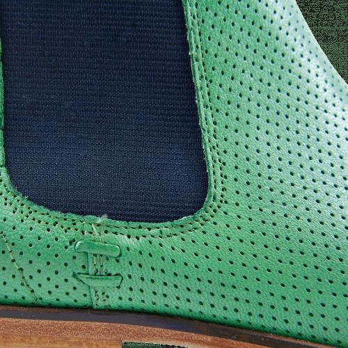 Bottines Susan 10 Salerno Perfo Mint Green Elastic Navy LS