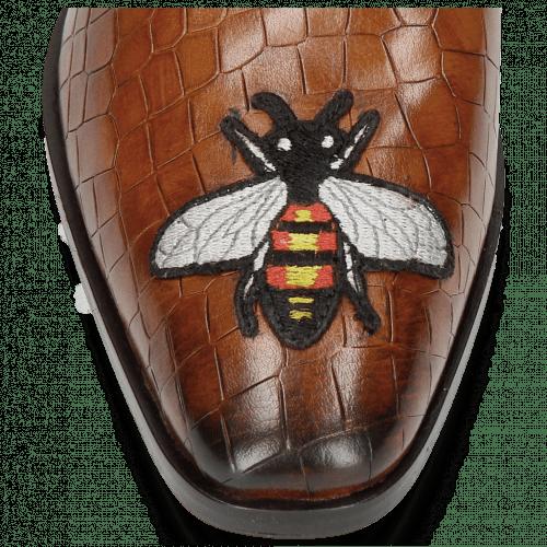 Mocassins Prince 1 Crock Wood Toe Patch Bee