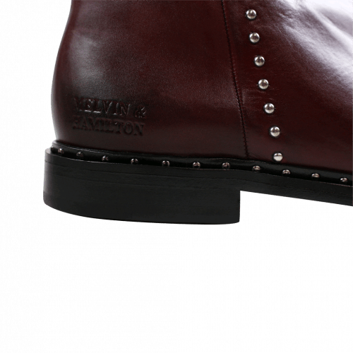 Bottines Susan 47 Burgundy Rivets Nickel HRS