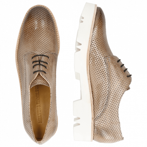 Derbies Amelie 14 Perfo Morning Grey Iron White