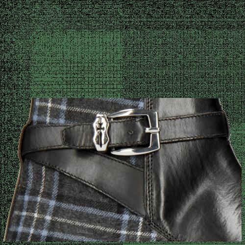 Bottines Kane 1 Black Textile Charcoal Strap Black Sword Buckle