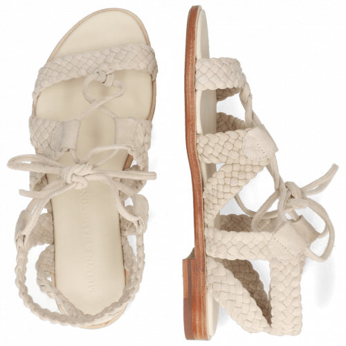Sandales Sandra 11 Suede Chilena Woven Ivory Footbed