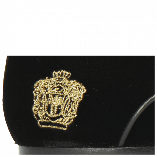 Derbies Sidney 7 Velluto Black Embroidery Crown