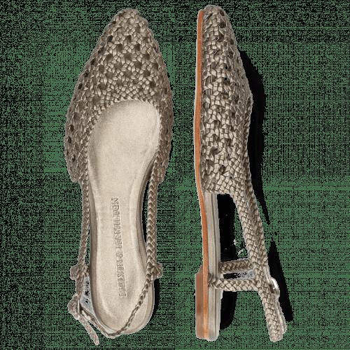Sandales Alexa 27 Open Weave Pewter