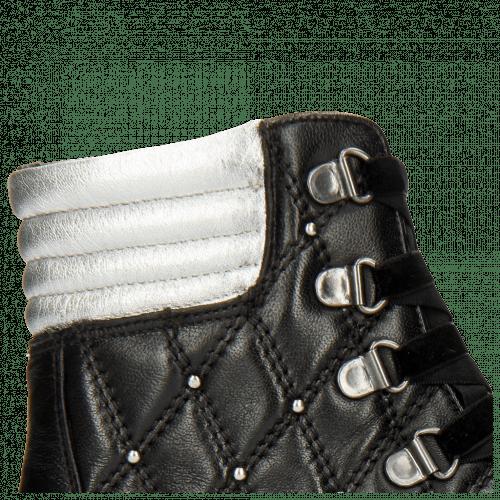 Bottines Bonnie 17 Nappa Black Talca Silver Rivets