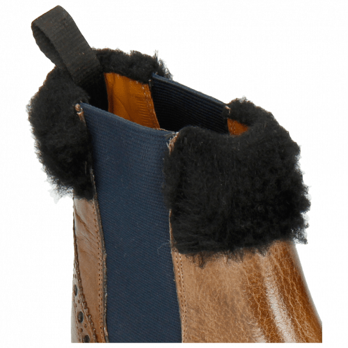 Bottines Amelie 63 Grigio Fur Nappa Navy