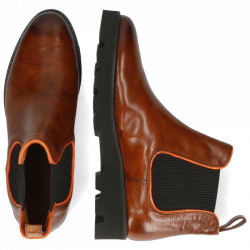 Bottines Selina 37 Pisa Wood Binding Fluo Orange