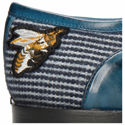 Richelieu Lance 23 Ostrich Mid Blue Bee Patch