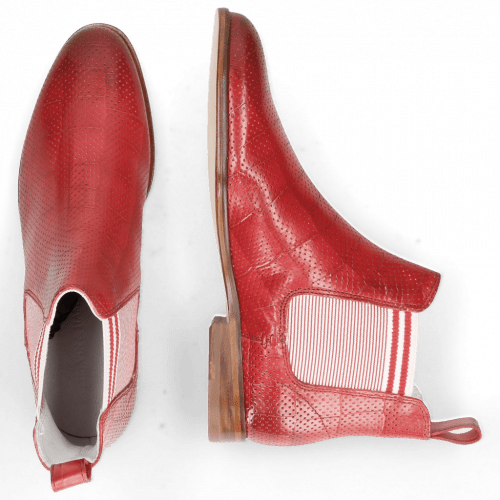 Bottines Susan 10 Vegas Turtle Perfo Ruby