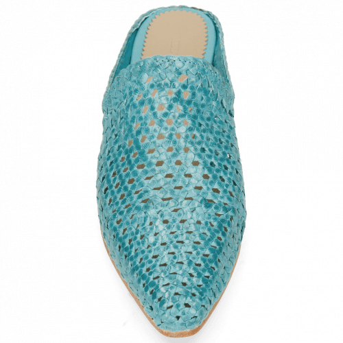 Mules Joolie 14 Woven Turquoise