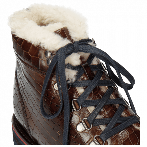 Bottines Trevor 5 Crock Mid Brown Lining Fur