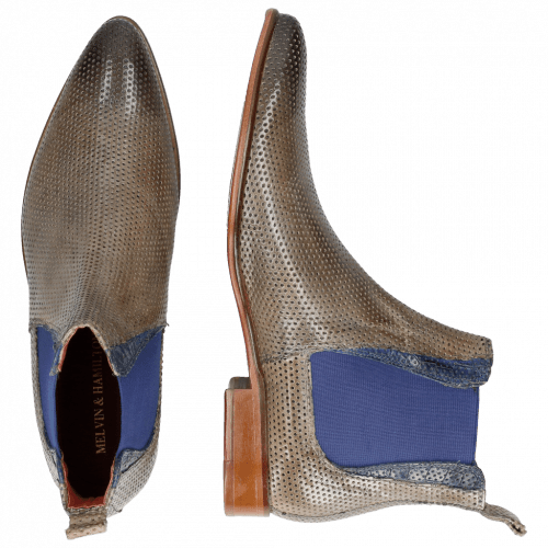Bottines Toni 6 Classic Perfo Morning Grey Crock China Blue