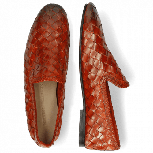 Mocassins Mandy 1 Interlace Scale Weave Orange