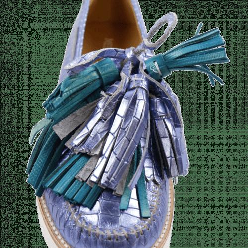 Mocassins Bea 4 Timor Turquoise Tassel Multi New Malden White