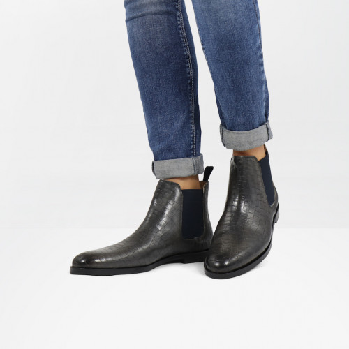 Bottines Susan 10 Crock Grigio Elastic Navy