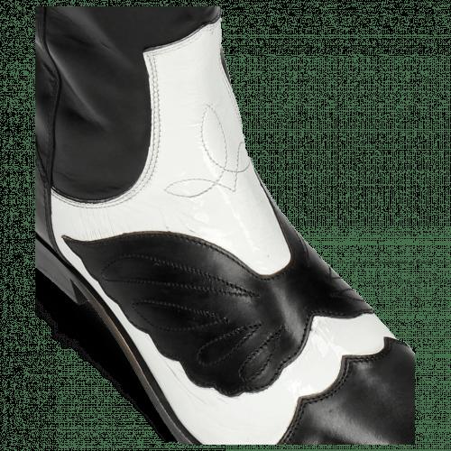 Bottes Marlin 36 Black Soft Patent White Stitching Black