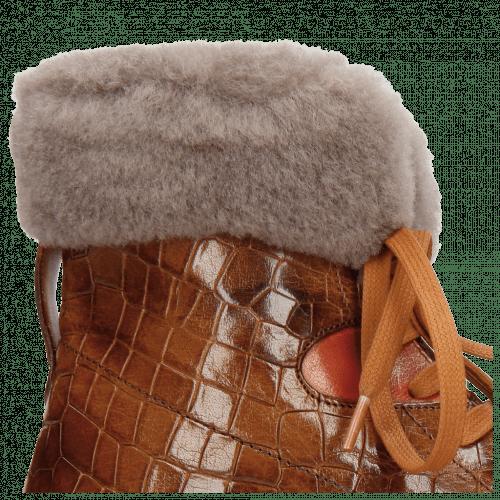 Bottines Trevor 19 Crock Wood Winter Orange Short Fur Taupe
