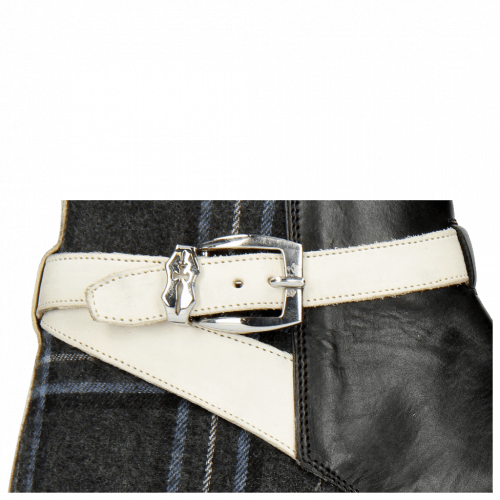 Bottines Kane 1 Black Textile Charcoal Strap Vegas White Sword Buckle