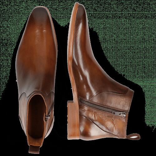 Bottines Lance 51 Wood Nappa Glove Camel
