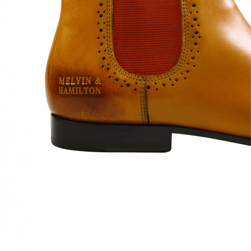 Bottines Sally 16 Yellow Elastic Orange HRS