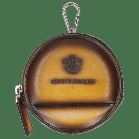 Porte-monnaie Penny Vegas Yellow Shade Dark Brown