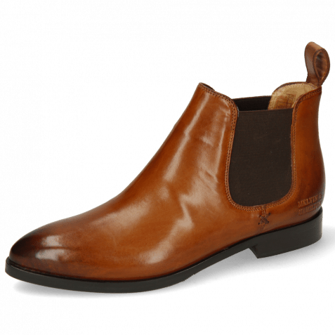 Bottines Jessy 1 Tan Elastic Dark Brown