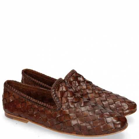 Mocassins Mandy 1 Interlaced Scale Tan