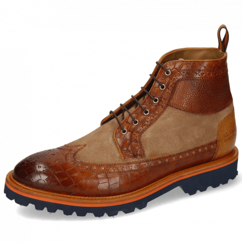 Bottines Matthew 9 Venice Crock Cognac Scotch Grain Sand