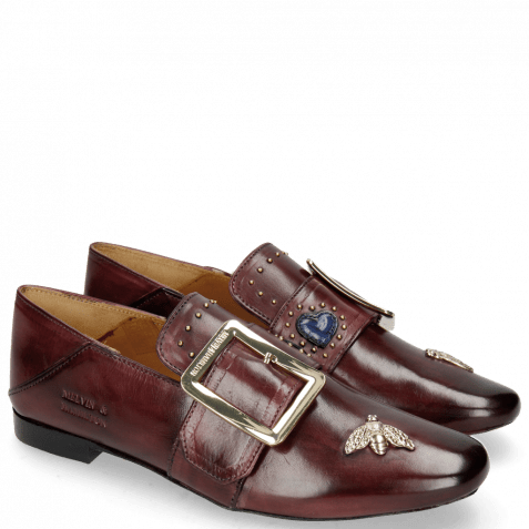 Mocassins Luna 2 Burgundy Bee Gold