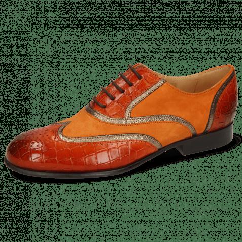 Richelieu Sally 38 Crock Winter Orange Nappa Aztek Bronze