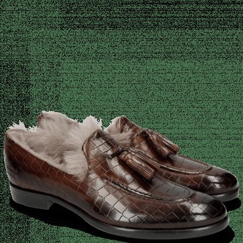 Mocassins Clint 6  Crock Mid Brown Fur
