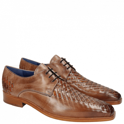 Derbies Lewis 25 Classic Cappu Interlaced Orange LS