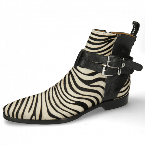 Bottines Elvis 45 Hairon Zebra Black White