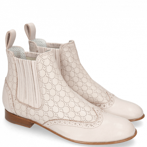 Bottines Sally 129 Nappa Glove Perfo Pink Salt