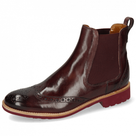 Bottines Amelie 5 Wine Elastic Burgundy