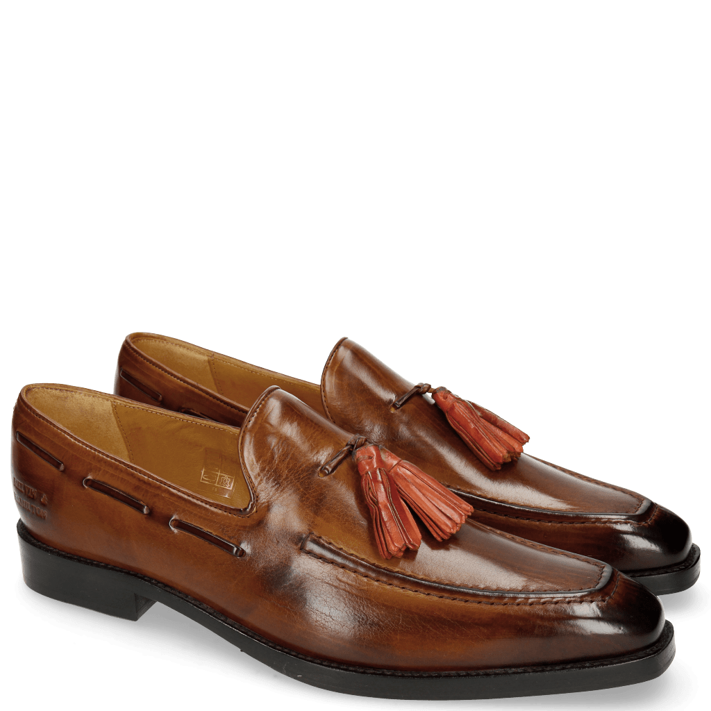 Mocassins Leonardo 1 Wood Tassel Winter Orange