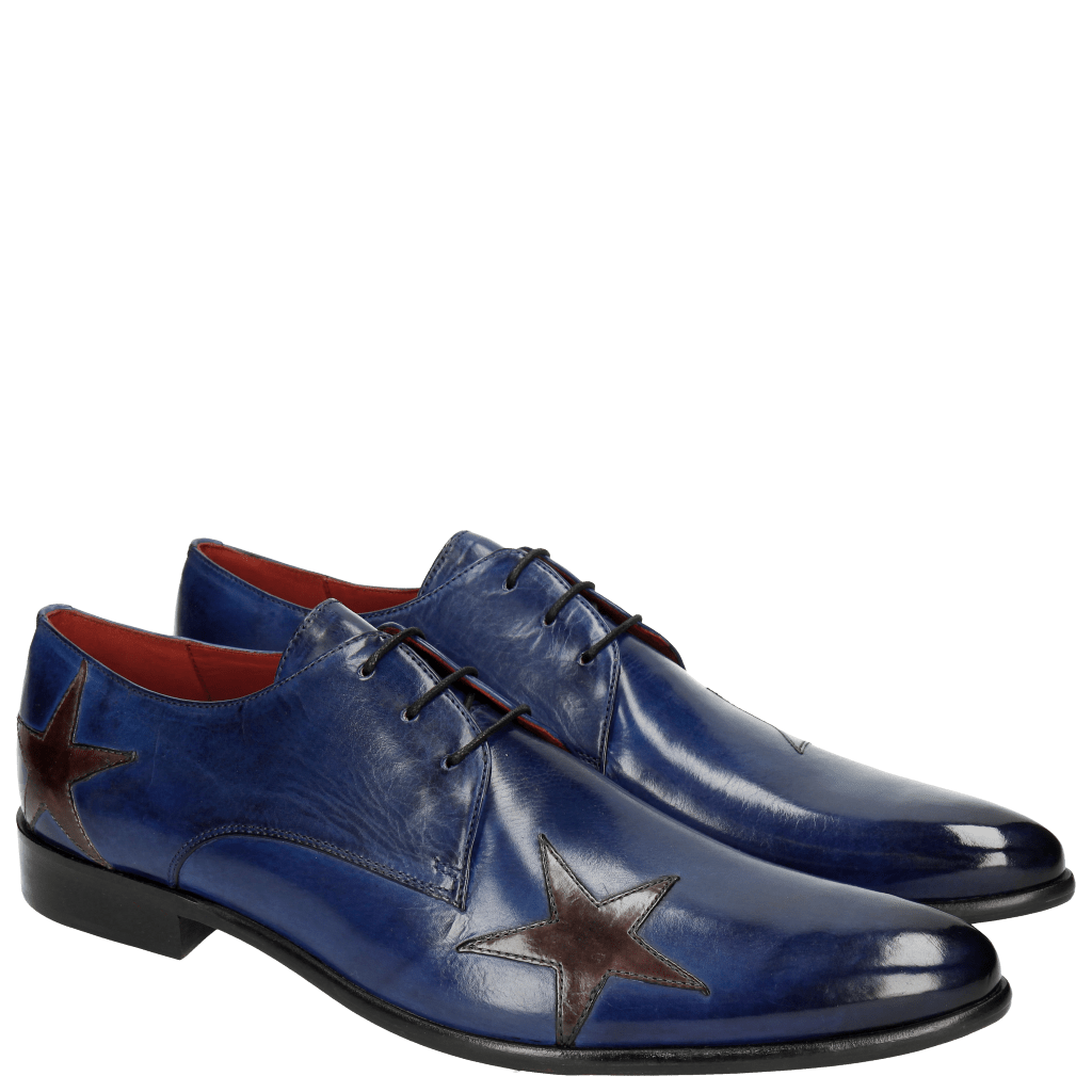 Derbies Toni 19 Electric Blue Stars Ash